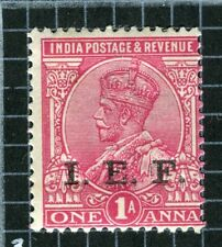 INDIA FORCES ABROAD; 1914 early GV I.E.F. Optd issue Mint hinged 1a. value