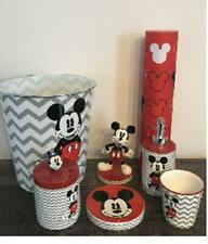 ?Mickey Mouse 8pc Bathroom Disney Chevron Bath Coordinate Collection Gray White