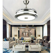 """Retractable Ceiling Fans 42"""" with Lights Modern Remote Control Chandelier Lamps"""