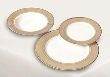 18 Pièces Porcelaine De Table Cuisine Table Service L'Assiet Céramique Gold