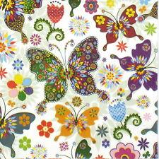 4x Tovaglioli di carta per Decoupage Decopatch Colorato Farfalla