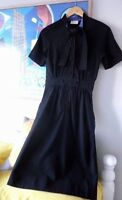 Womens TOAST black fitted 1940's style wool fitted dress. Size 8