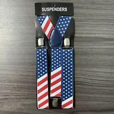 1X USA Flag Mens Clip-on 1.5