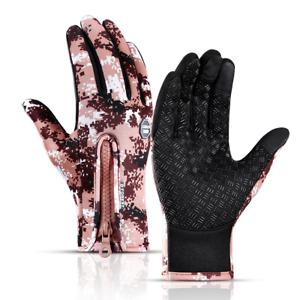 Winter Windproof Cycling Gloves Touch Screen Warm Waterproof Full Finger Gloves