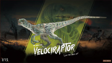 DINO DREAM 1/15 Green Velociraptor Raptor Figure Dinosaur Toy Animal Collector