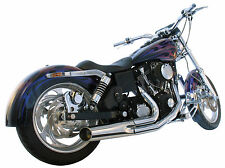 Harley Dyna Super Glide Wide Low Rider 2 into 1 Exhaust PRICE REDUCED