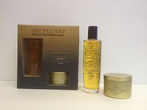 OROFLUIDO THE ILLUMINATION GIFT SET ELIXIR 3.4 OZ & LUXURY CANDLE