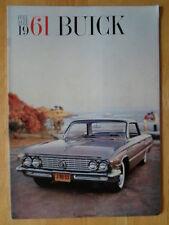 BUICK 1961 Full Size orig large format prestige brochure Electra Invicta LeSabre