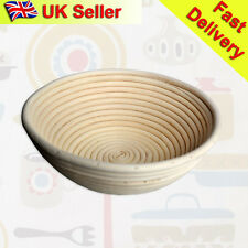 "UK  22cm/9"" Round Banneton Brotform Dough Bread Proofing Proving Rattan Basket"
