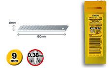 10 x GENUINE OLFA AB-10, 9mm SNAP OFF UTILITY BLADES
