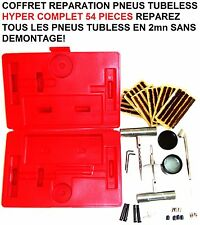 SPECIAL CAMPING CAR CARAVANE MALLETTE 54 PIECES REPARATION PNEUS SANS DEMONTAGE