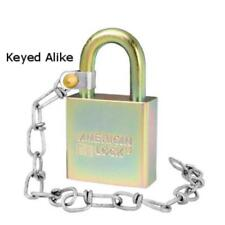 """American Lock A5200GLWNKA Government Padlock with 9"""" Chain, Keyed Alike"""
