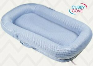 Cover for CubbyCove Baby Newborn and Infant Lounger Meshed Material blue
