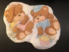 Vintage Wall Hanging 2 Adorable Baby Bears-New-Great in Nursery or Child's room