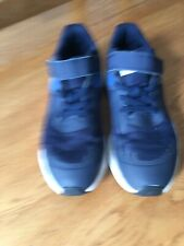 Nike Trainers Boys UK Size 1 Blue Grey And White