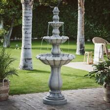 "Three Tier Outdoor Fountain Water Pump 60"" Tall Garden Decor Traditional Feature"