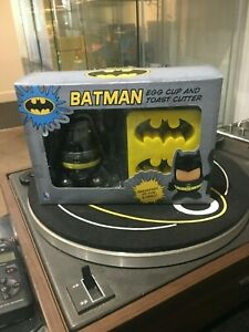 DC Comics Batman Egg Cup and Toast Cutter Stamp With Spoon Breakfast Set