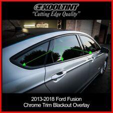 2013-2018 Ford Fusion Chrome Trim blackout overlay