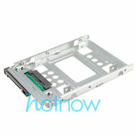 "2.5"" SSD SAS to 3.5"" SATA Hard Disk Drive HDD Adapter CADDY TRAY Hot Swap Plug"
