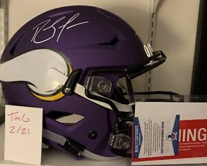 Vikings Randy Moss Signed Speed Flex Full Size Helmet Beckett Certified