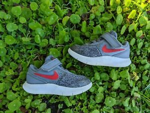Nike FLEX CONTACT (TDV) Grey/Red 917935-003 Shoes Toddler Size 7C