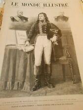 Gravure 1901 - Napoléon Bonaparte livre d'or légion d'honneir