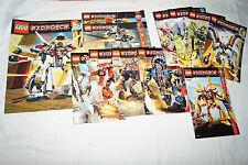 LEGO BAUANLEITUNG EXO-Force 12 Stück 7714 7712 7711 7712 8102 7700 7701 7703 u.a