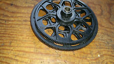 TREX 550 / 600 MAIN GEAR & TAIL DRIVE GEARS C/W ONE-WAY BEARING BLACK EARLY TYPE