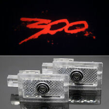 2pc Red 300 Logo Car LED Door Projector Puddle Lights For Chrysler 300 300C 300S