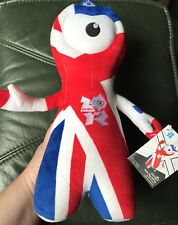 Official London 2012 Olympics Wenlock Union Flag Soft Plush Toy 30cm - Brand New