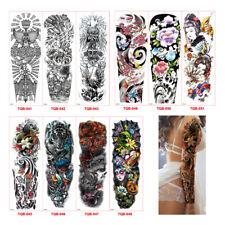 Impermeable Hombres 3D tatuaje del brazo tatuajes temporales etiqueta engoma_QA