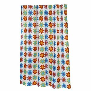"""Carnation Home Extra Long """"Abbie"""" Fabric Shower Curtain"""
