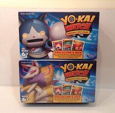 LOT of 2 Yo-kai Watch Trading Card Game Collector's Boxes ROBONYAN & KYUBI YOKAI