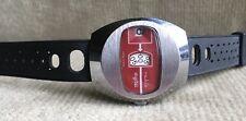Ruhla digital Herrenuhr Scheibenuhr 35 mm mit orig. Gummi Armband  DDR ca. 1980