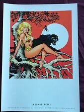 Dave Stevens Poster Fantasy/Pin Up Poster  ~Leopard Skins~