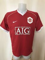 Manchester United 2006/2007 Home Sz L Nike football shirt jersey soccer maillot
