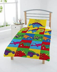 Kids Thats Not My Dinosaur Bedding Set Duvet & Pillow Cover Case JUNIOR Children