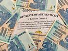 100 TRILLION DOLLAR AUTHENTIC ZIM ZIMBABWE 2008 AA BOND UNC COA CERTIFICATE UV