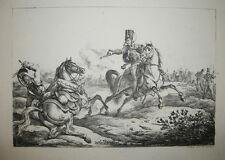 Carle VERNET - HUSSARD tirant un coup de pistolet Lithographie du XIXème - HORSE