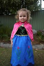 New Frozen Anna Winter Costume Dress with Cape
