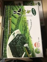 ROASTED SEAWEED WITH GREEN TEA, ROASTED LAVER SEASONED (1 Box, 10 Packs Inner )