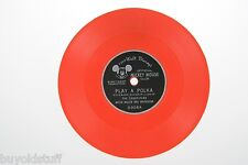 Vintage MICKEY MOUSE CLUB Play A Polka The Drum Song  ORANGE RECORD Walt Disney
