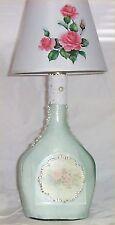 Liquor Bottle Light Chic Rose Night Glass Home Decor 40 Watt Light Shabby Lamp