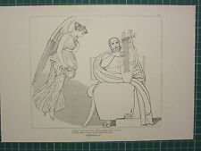 1880 PRINT JOHN FLAXMAN AESCHYLUS MYTHOLOGY ~ AGAMEMNON RAPTURED SONG