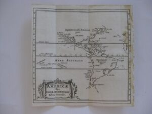 ANTIQUE 1686 NORTH SOUTH AMERICA CLUVER BERTIUS COPPERPLATE MAP UNITED STATES NR