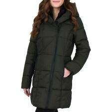 French Connection Womens Green Water Repellent Puffer Coat Outerwear L BHFO 1002