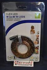Flex LED 3 Meter 90 LED`S selbstklebend & Netzstecker Stormspar System NEU