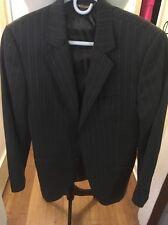 DOLCE & GABBANA Men's gray virgin Wool Striped Suit Sz  48- Stunning!!!