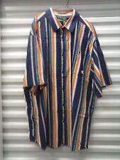Rocawear Classic Herren Knopf Kurzarm Shirt Größe 4XL Urban Vintage Designer