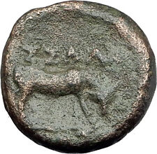 THESSALONICA in Macedonia 146BC Authentic Ancient Greek Coin ATHENA BULL i62107